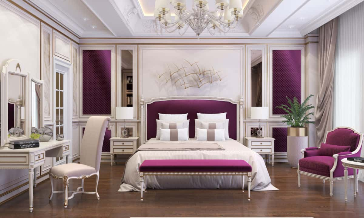 Purple Themed Luxury Bedroom