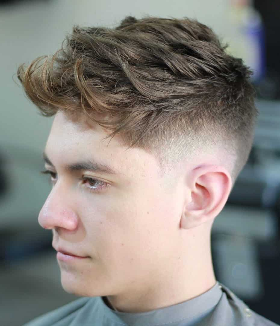 Tousled Hair with Drop Fade