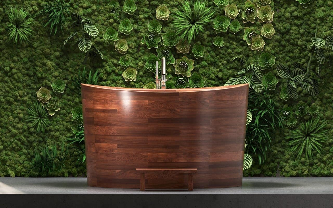 Wooden Tub with a Rustic Twist