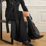 Gabriela Hearst Leather-Trimmed Cashmere Trench Coat