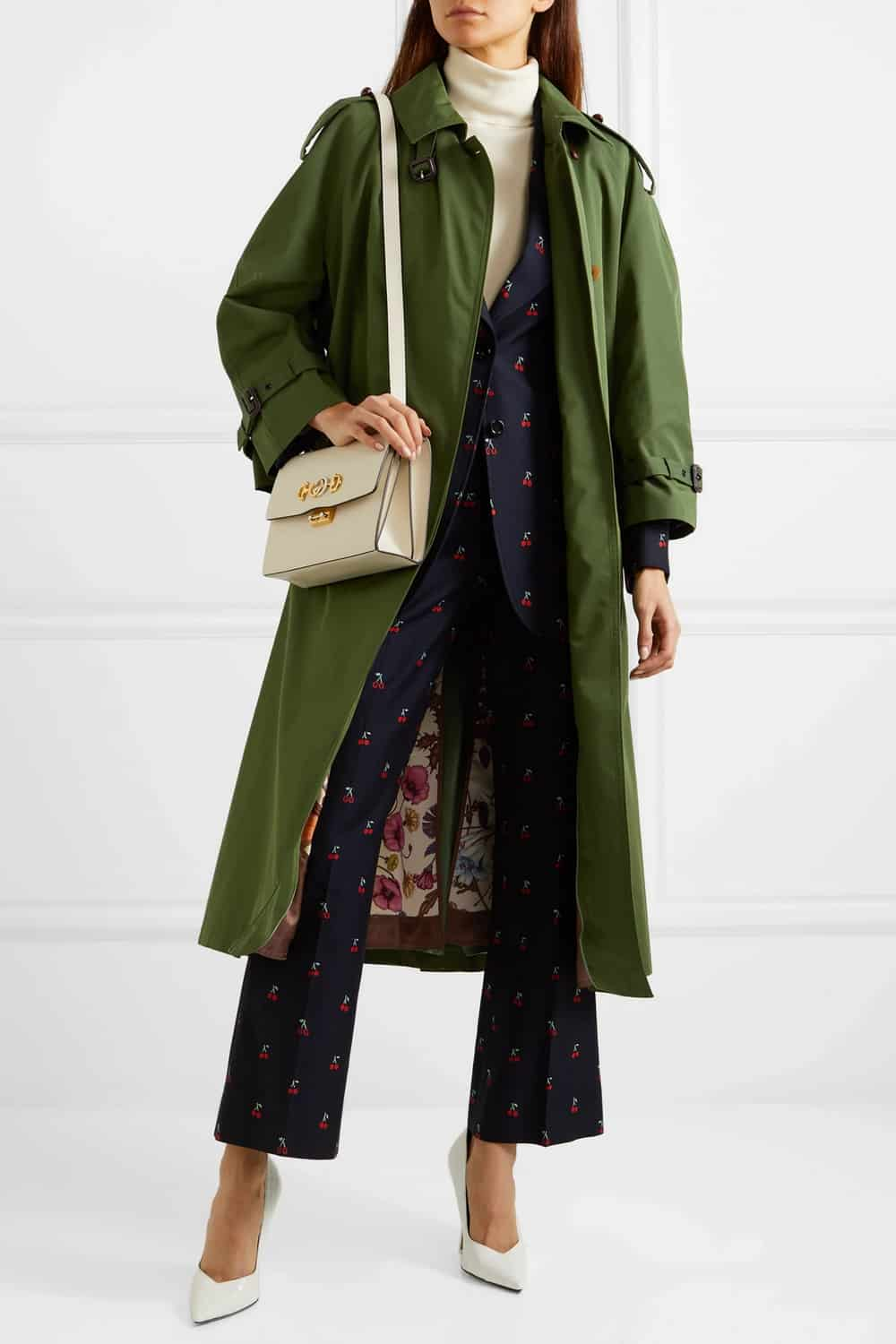Gucci Oversized Cotton-Blend Trench Coat