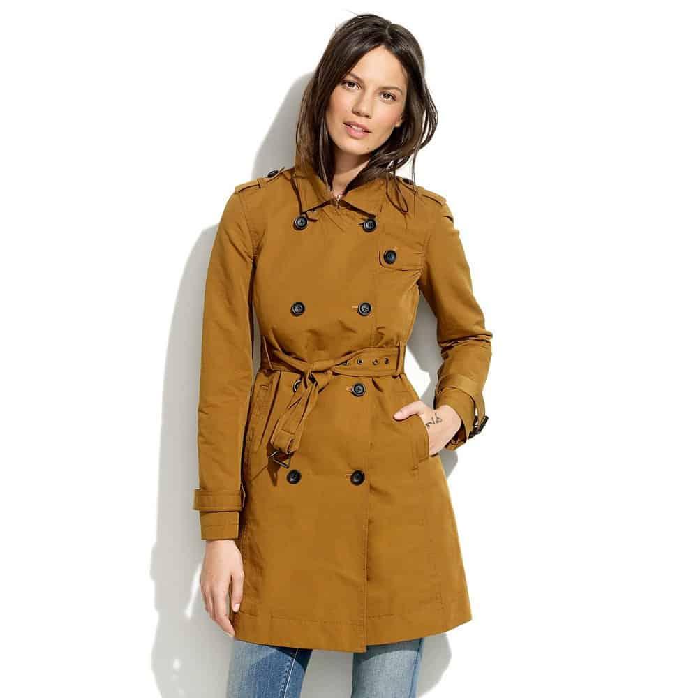 Madewell Sedgwick Camel Trench Coat