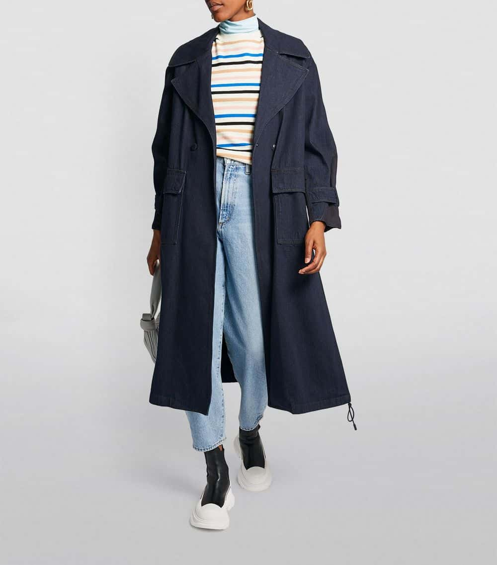 Max&Co Denim Trench Coat
