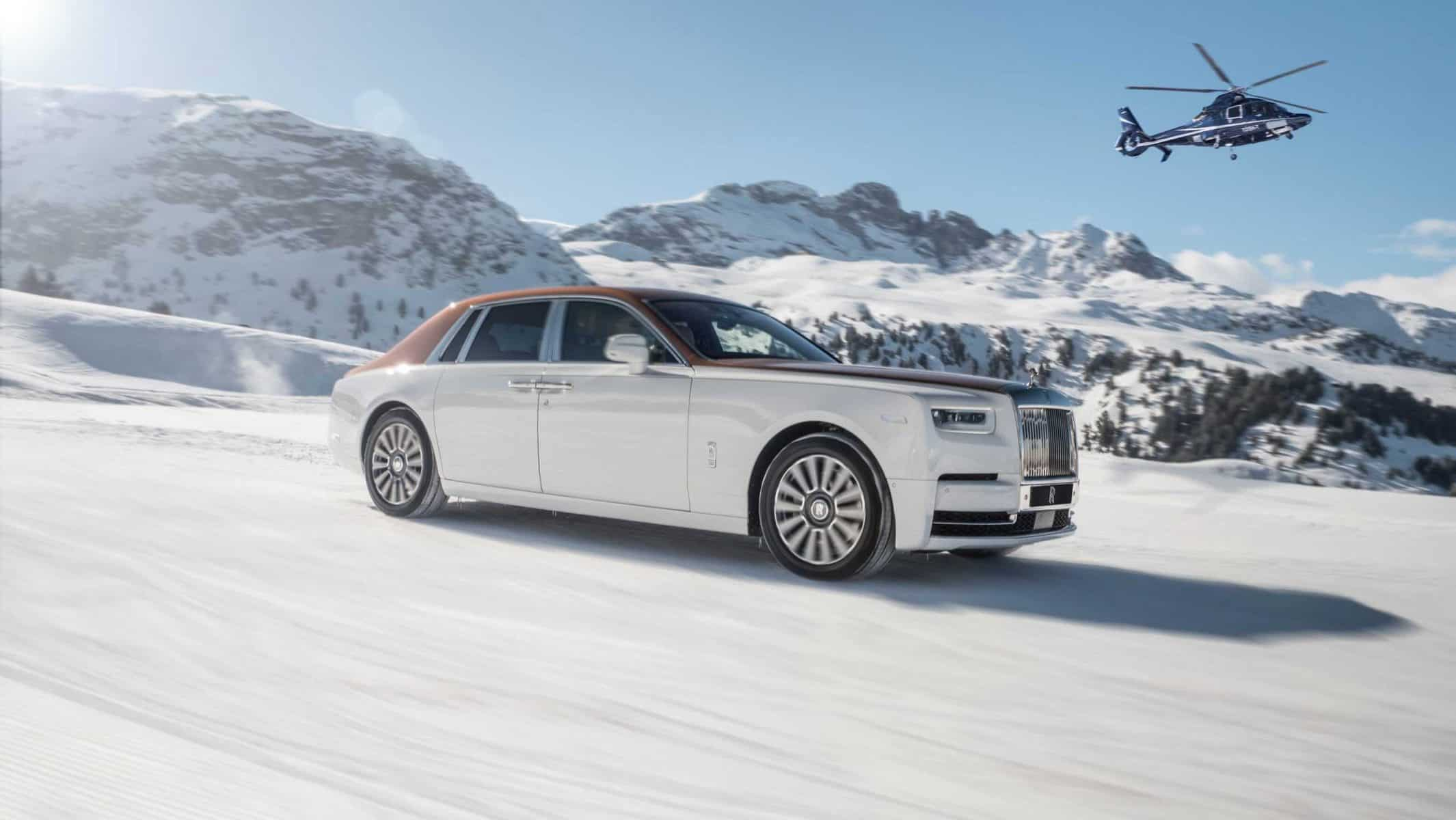 Rolls Royce Winter Driving in St Moritz