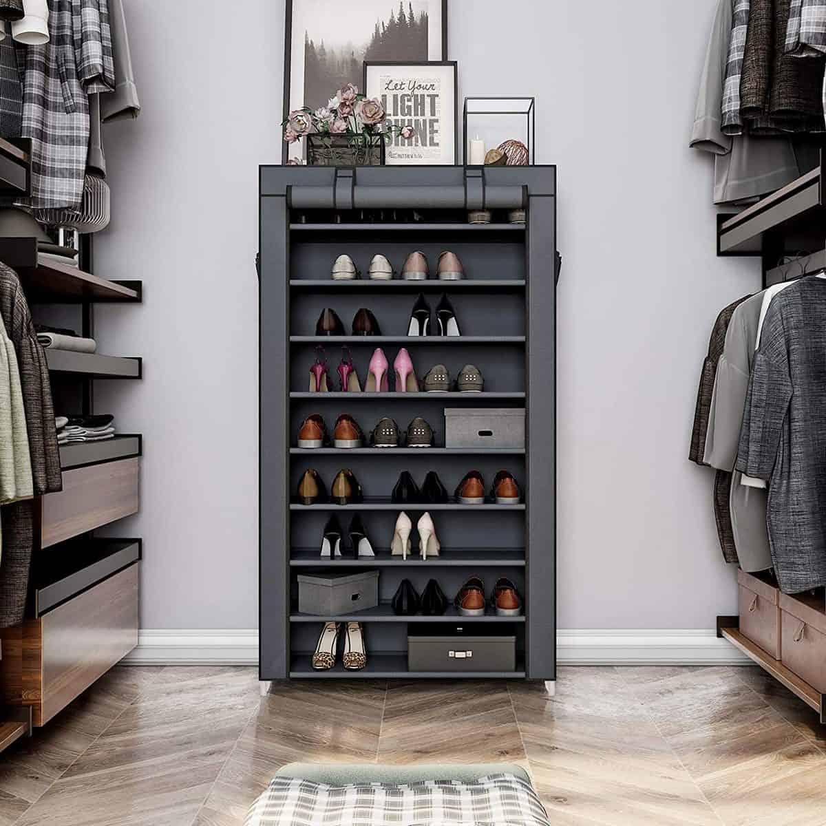 Songmics Portable Shoe Rack Closet 10 Tiers