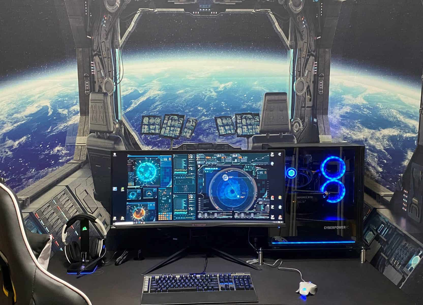 Space Themed Gaming Room