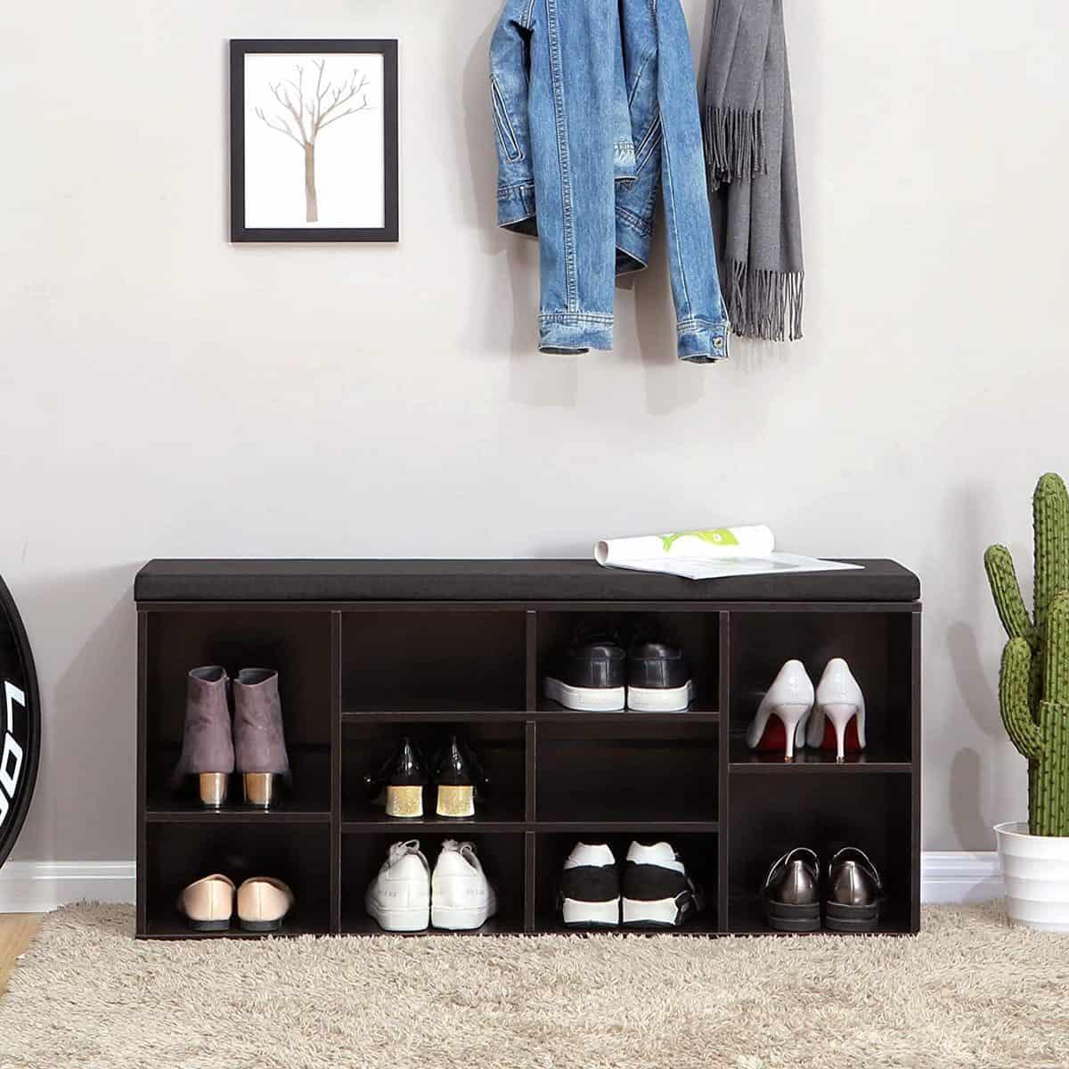 Vasagle Cubbie Shoe Cabinet Storage Bench