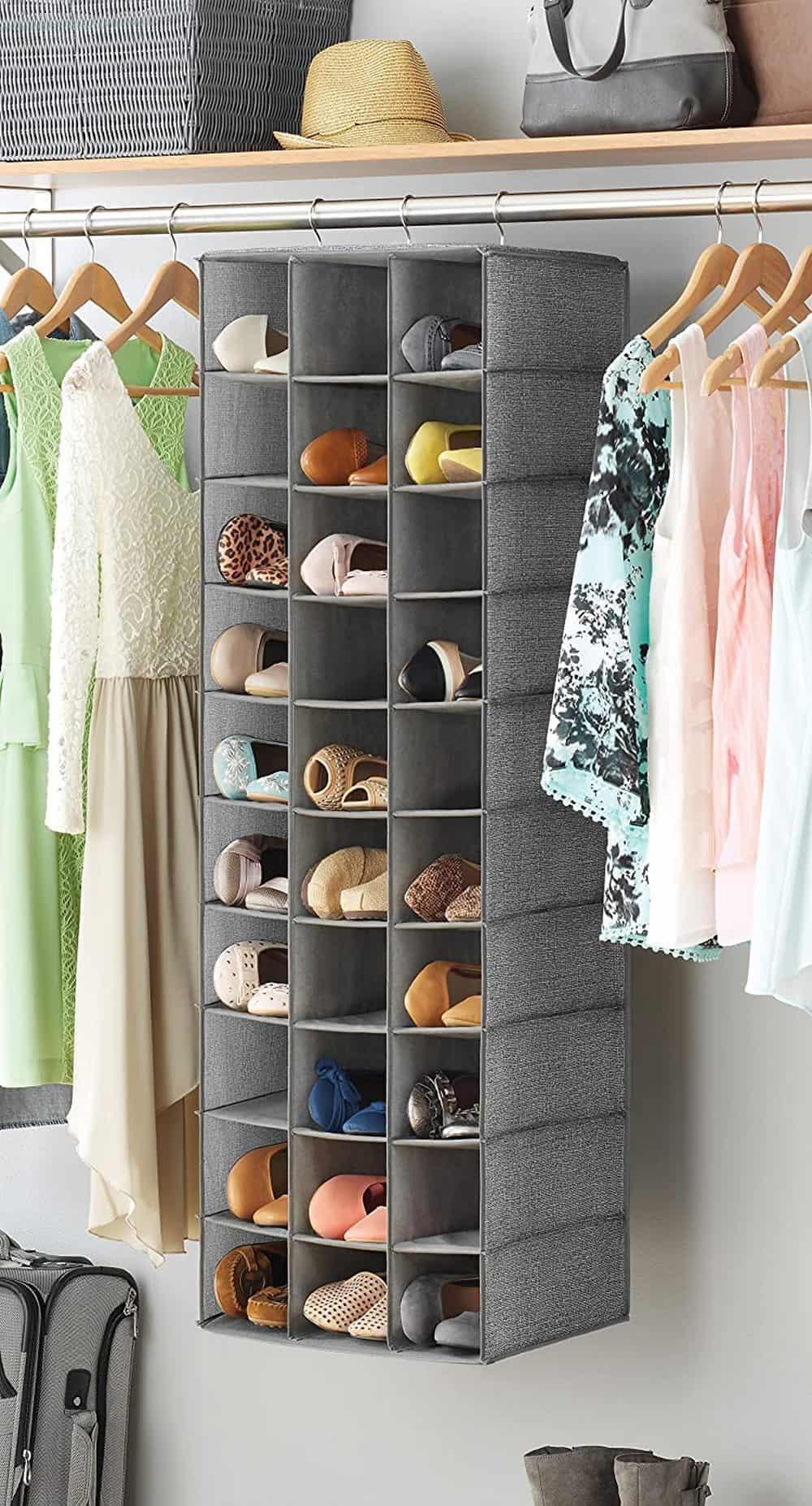 Whitmor 30-Section Hanging Shoe Shelves