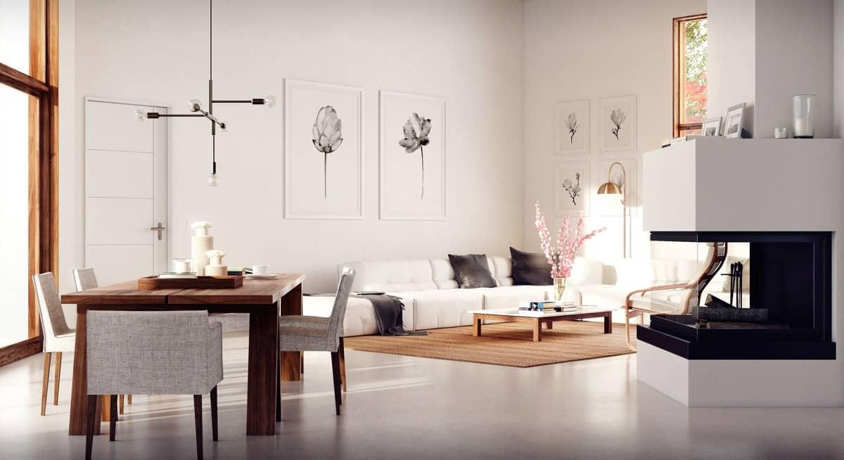 Wooden Frames Minimalist Interior