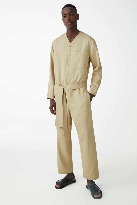 COS Organic Cotton Linen Boiler Suit