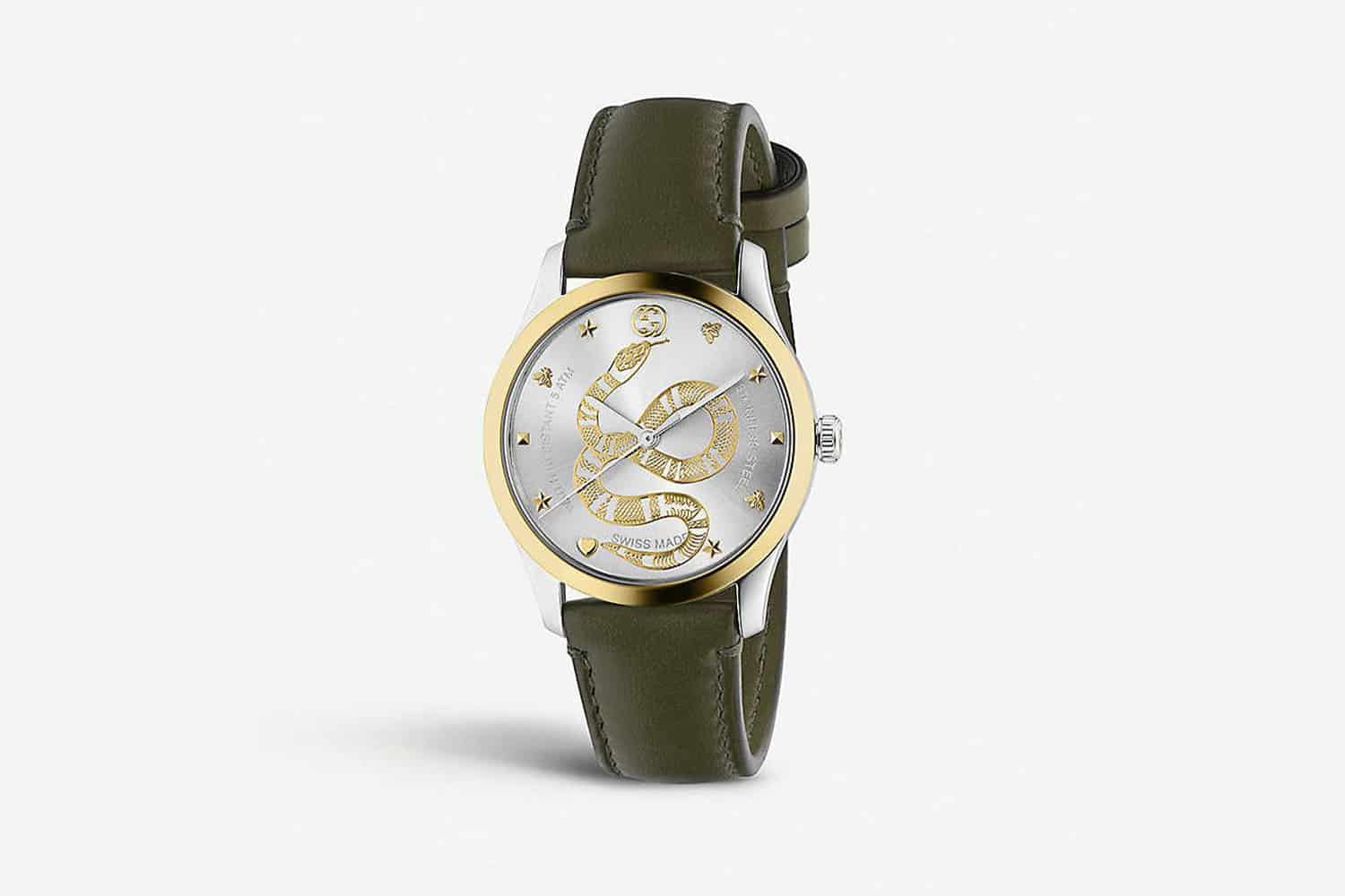 Gucci-G-Timeless-stainless-steel-and-leather-watch