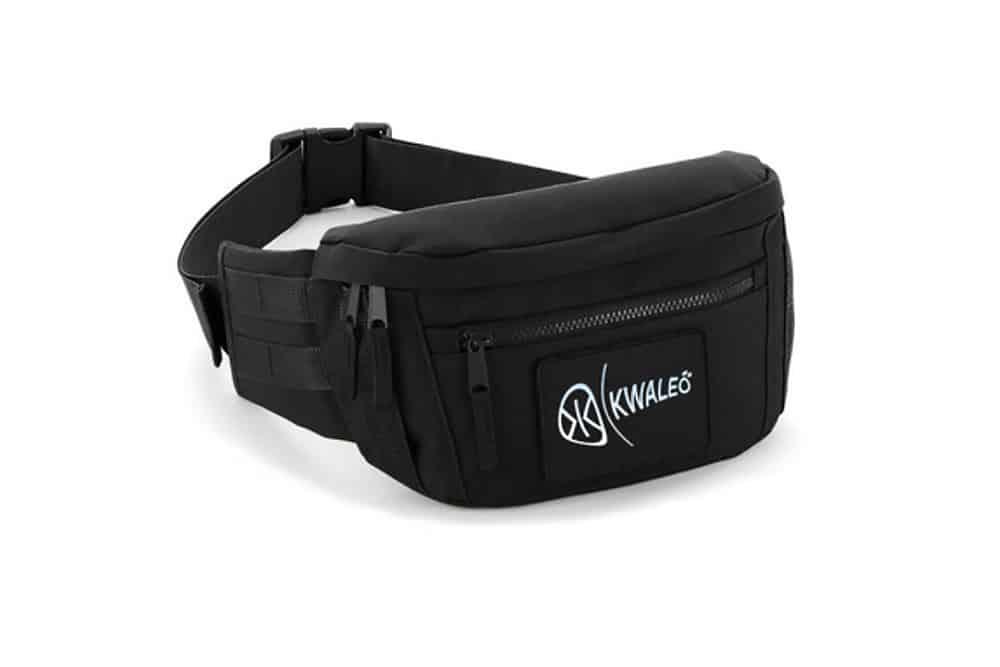 Kwaleo-Utility-Unisex-Black-Waist-Pack