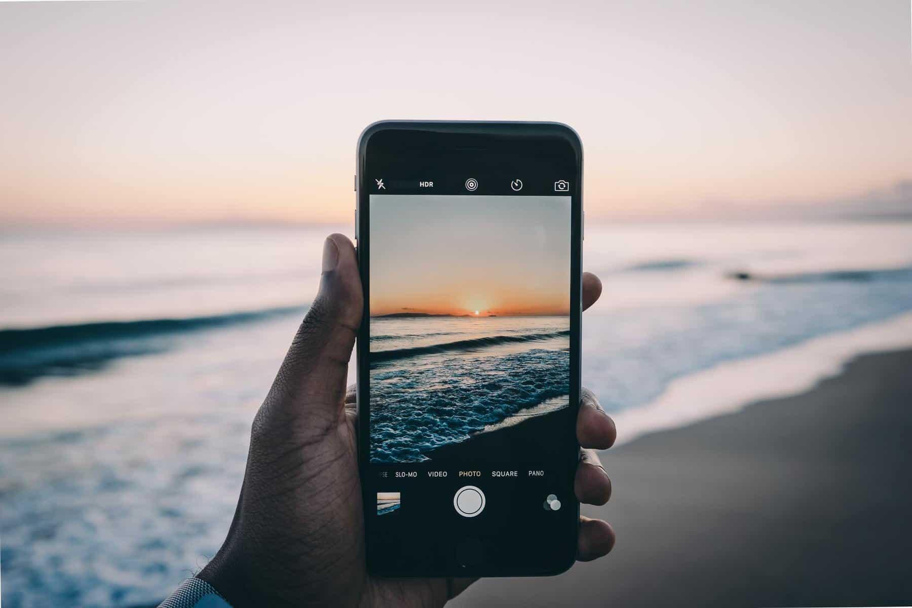 Phone at the Beach