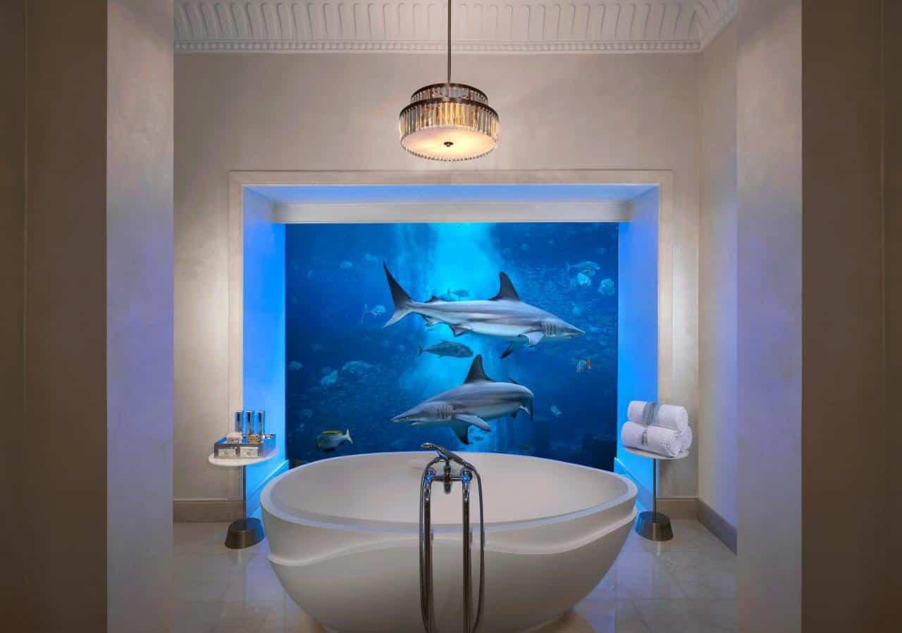 Atlantis the Palm Underwater Suite Bathroom