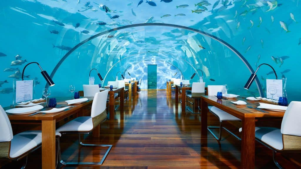 Conrad Maldives Rangali Island underwater restaurant