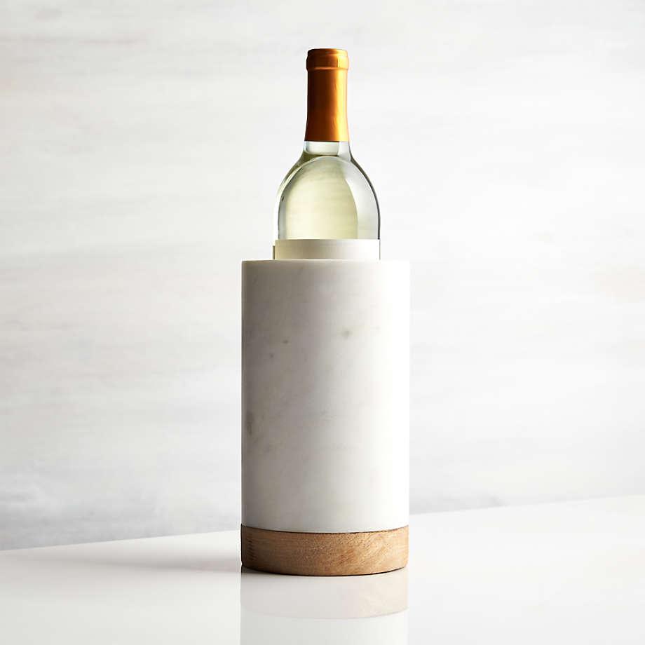 Crate & Barrel Wood Marble Wine Cooler