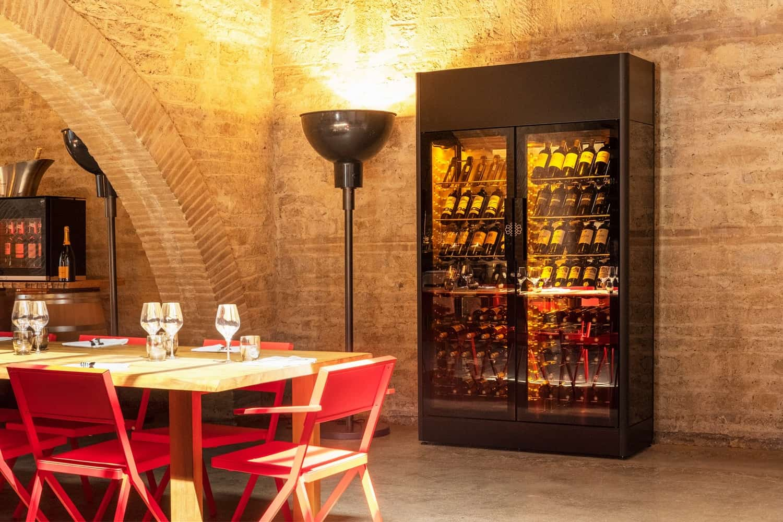 EuroCave Premiere Double L Wine Cellar with Display Presentation Shelf