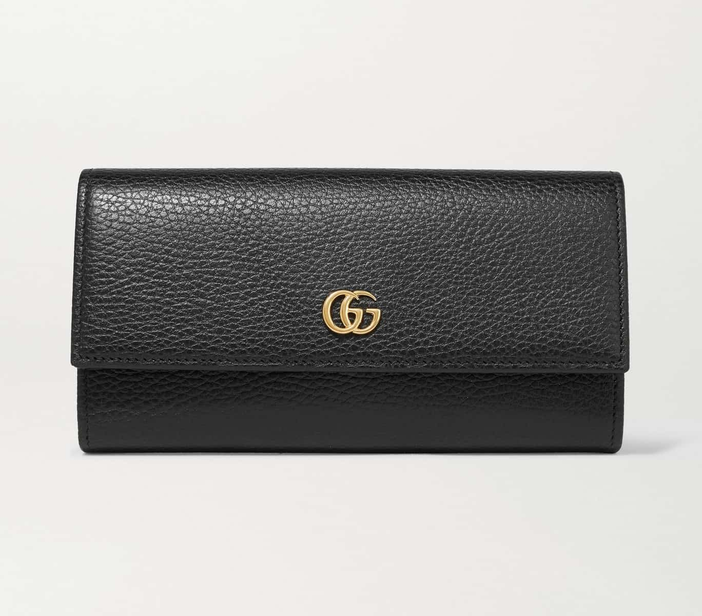 Gucci textured-leather continental wallet