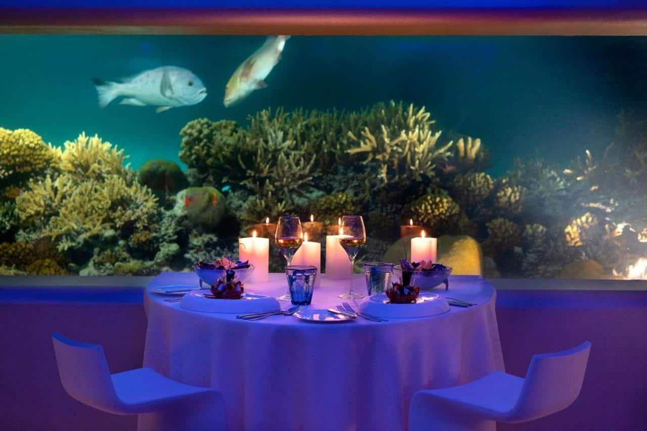 Huvafen Fushi Maldives restaurant