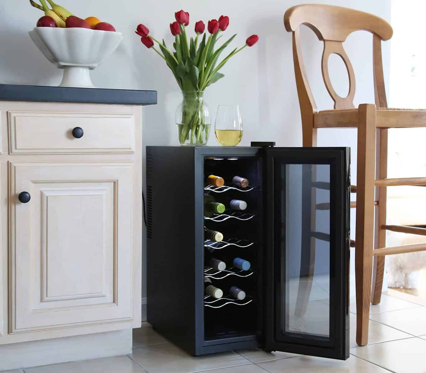 Ivation 12 Bottle Thermoelectric Red and White Wine Cooler