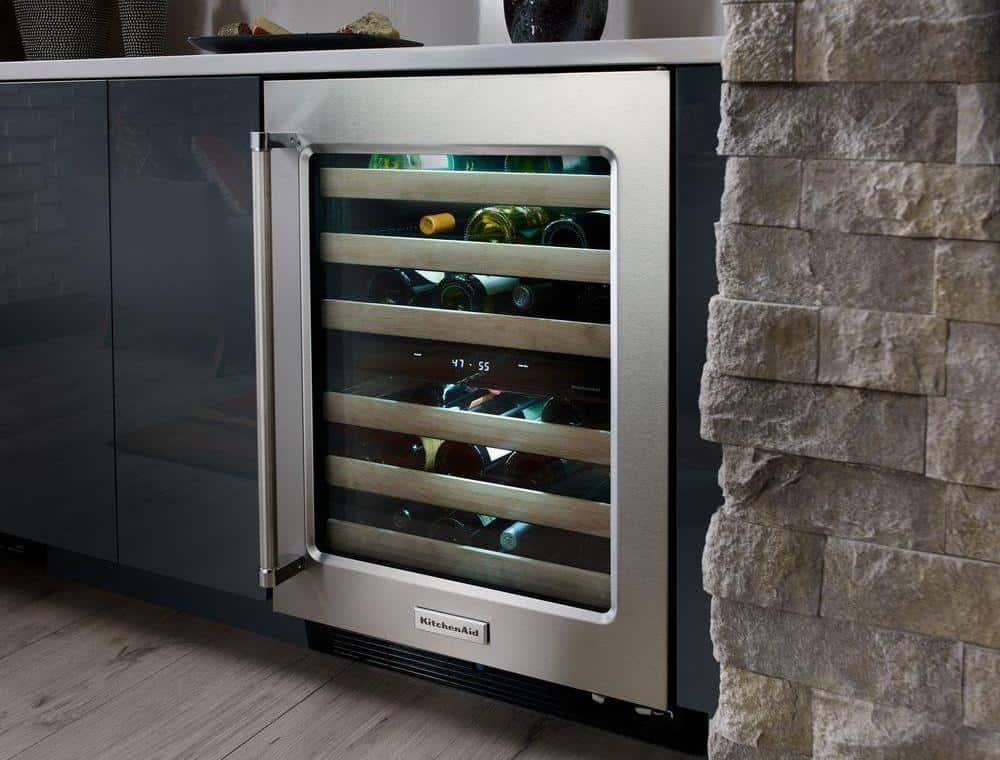 KitchenAid 46-Bottle Dual-Zone Wine Cellar