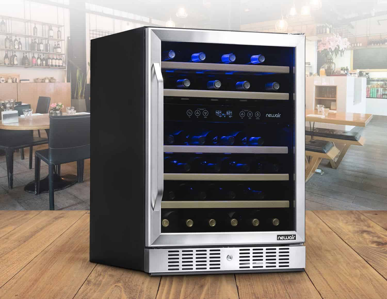 NewAir 46-Bottle Dual Zone Wine Cooler