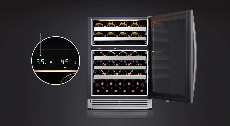 Samsung 51-Bottle Dual Zone Wine Cooler