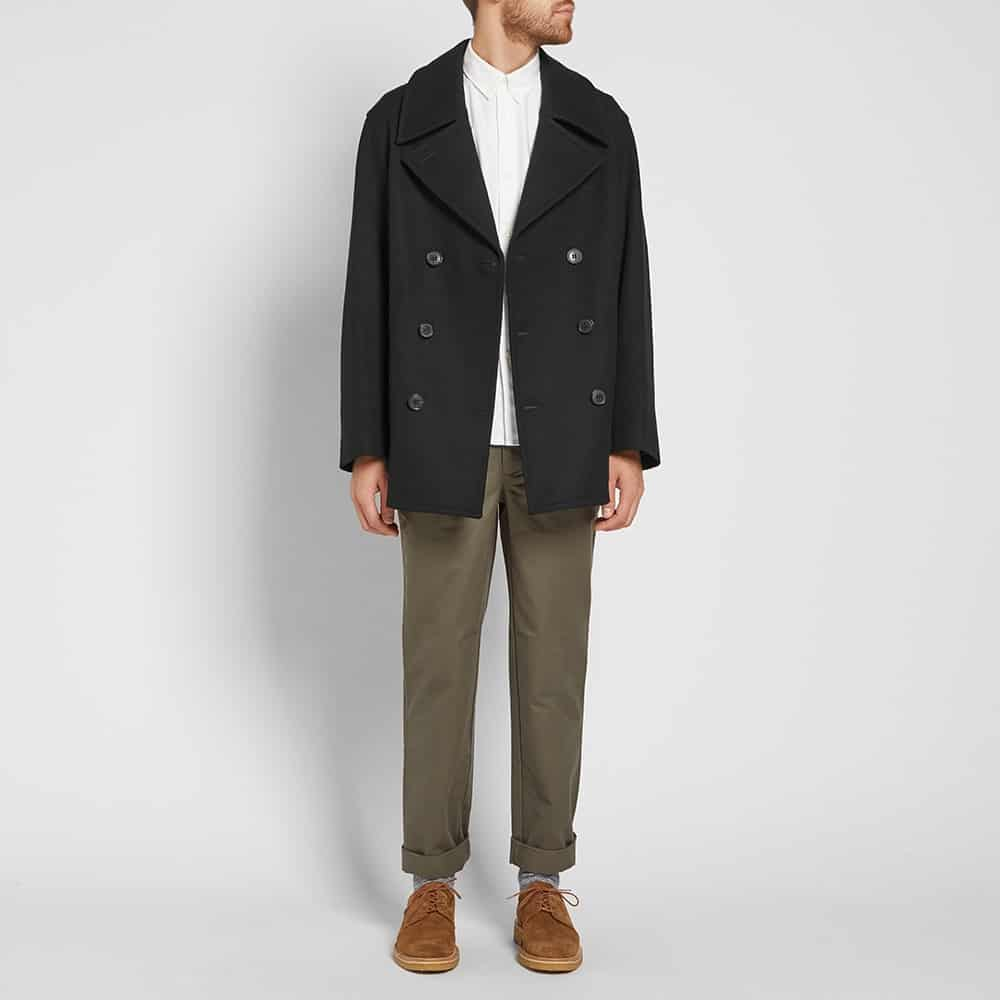 Mackintosh Double-Breasted Wool Peacoat