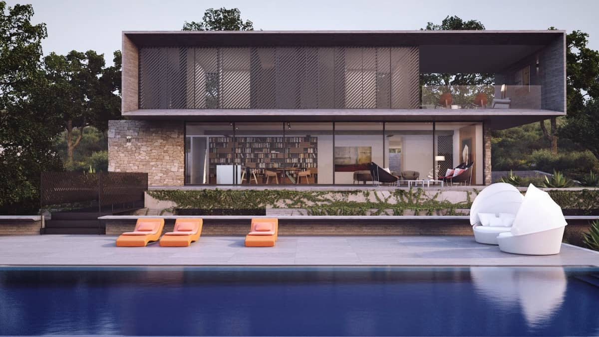 Wood and Brick Luxury Home