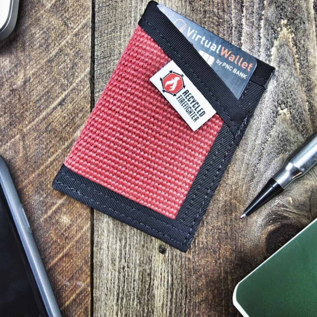 Recycled Firefighter Money Clip Wallet